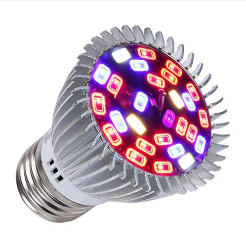 E27 E14 Gu10 Full Spectrum 18W 28W LED Grow Light Veg Flower  Hydroponic Plant