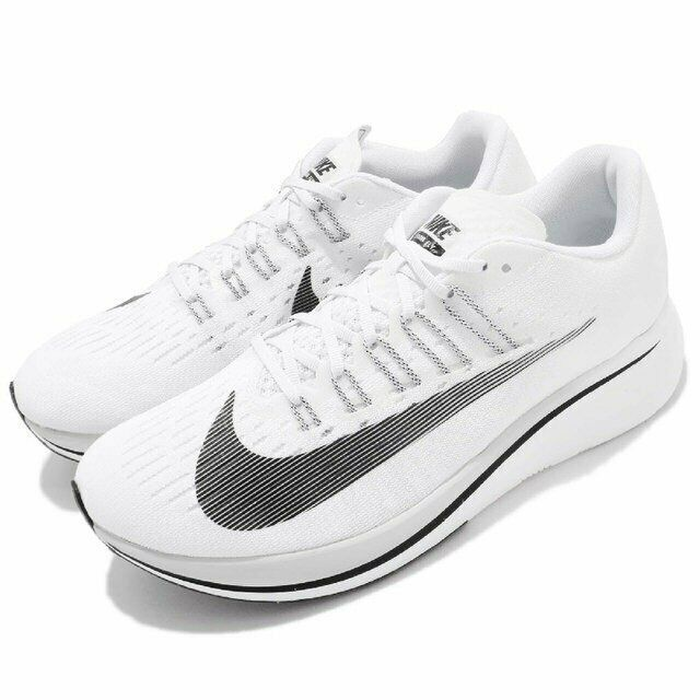 hot sales 594c1 a8c1e Nike Zoom Fly WHITE PURE PLATINUM GREY BLACK OFF 880848-100 Men's Running  Shoes