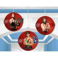 Wwe Wrestling Bash Honeycomb Decorations (3) Birthday Party Supplies John Cena