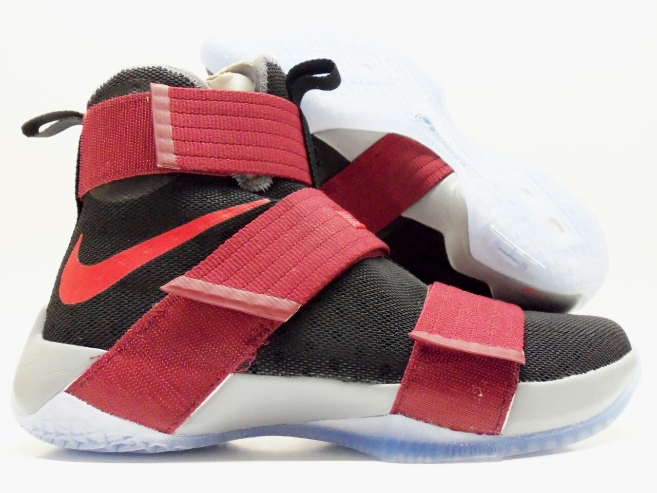 NIKE LEBRON SOLDIER 10 ID CHAMPIONSHIP BLACK GYM RED SIZE MEN'S 8 [885682-991]