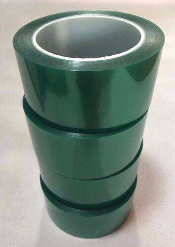4Rolls// Bulk High Temp Polyester Masking Tape Powder Coating 2 inch X 72 yds