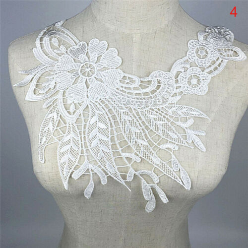 Lace Embroidered Floral Neckline Necks Collar Patches Clothes Sew Appliques Cl