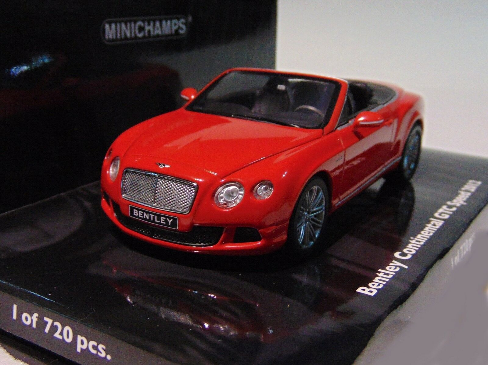 Bentley Continental GTC  Speed  2012  rojo   Minichamps 436139061  1 43