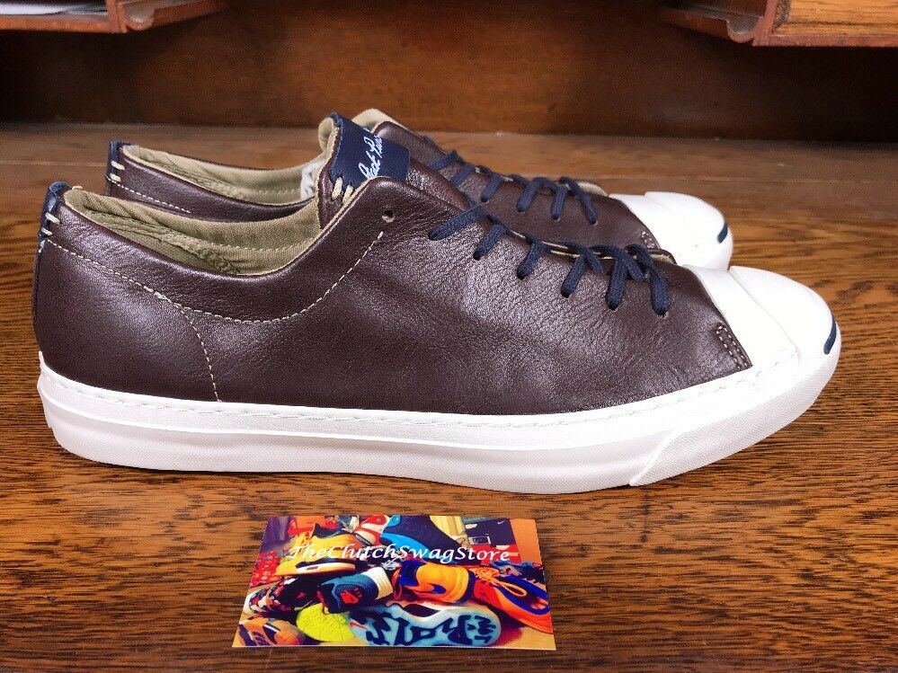 Converse Jack Purcell Jack Ox Brown Pelle Shoes 151497C Uomo Size 3 / Wmns 4.5