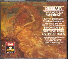 MESSIAEN - Turangalila Symphonie / Quartet For The End Of Time - RATTLE - 2CDs