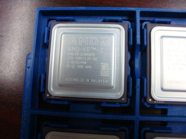 NEW AMD AMD-K6-2/266AFR 266 MHz/32KB/66 mhz Base/Socket 7 Processor 32bit 3.3V