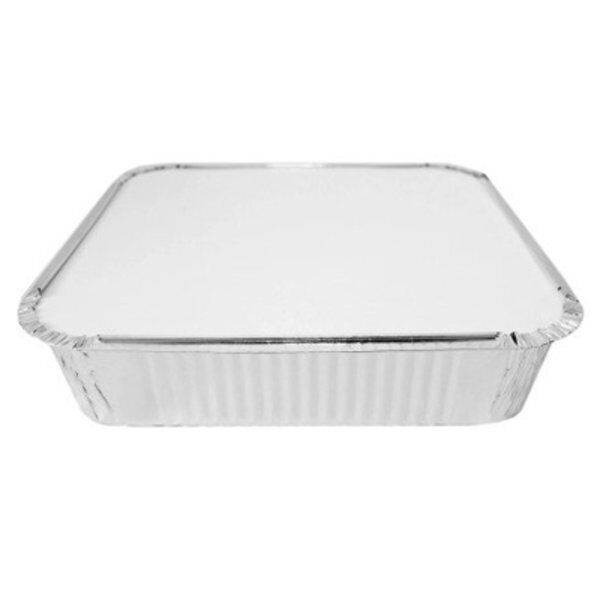 200 x Foil Containers No 9 Deep + 200 x Lids Hot Cold Food Takeaways