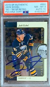 2015-2016-Jack-Eichel-AUTO-PSA-8-DNA-10-UPPER-DECK-SP-AUTHENTIC-RETRO-ROOKIE-RC