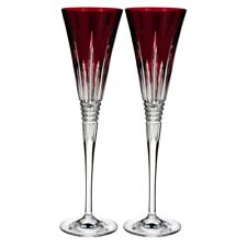 Waterford 60th Anniversary Collection Lismore Diamond Red Cut to Clear Flute