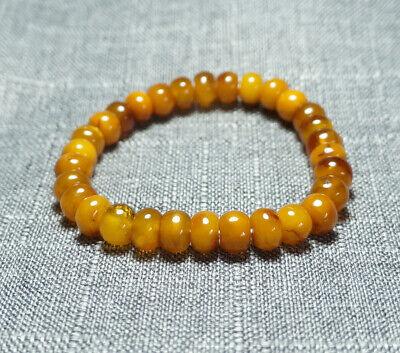 100/% Natural Baltic Poland Yellow Amber Egg Yolk Loose Beads Gemstone 10pcs