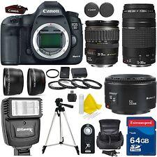 Canon EOS 5D Mark III DSLR Camera + 5 LENS KIT - 28-135 USM + 75-300 + 64GB