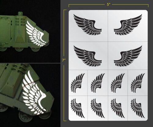 Wings Airbrush Stencil Texture Patern Schablonen Maskierung Gestaltung Flügel