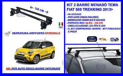 /5/porte dal 2013 Acciaio barre portatutto Fiat 500/l trekking/