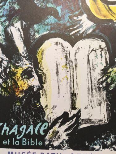 Marc Chagall,Et La Bible Musee Rath Poster,Offset Lithograph,Vintage 1966.