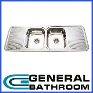 Details About Stainless Steel 1500mm Double Bowl Double Drainer Kitchen Sink