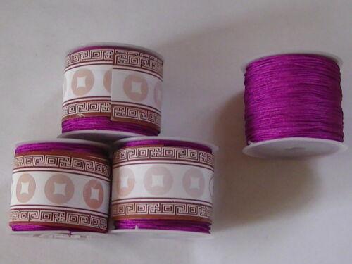 35mtr Rolls Shamballa Nylon Thread Cord C7 18 Colours.