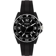 Rotary Ceramique Quartz Watch Black Dial Analogue  and Black Rubber Strap CEBRS/