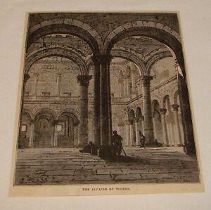 1878-magazine-engraving-THE-ALCAZAR-OF-TOLEDO-Spain