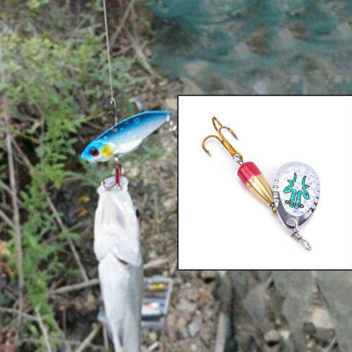 Fishing Lure Artificial Bait Metal Bionic Fishing Tackle sequins spinner JB