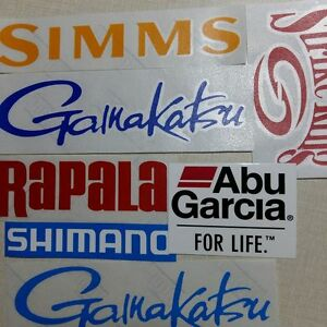 LOT-of-7-Fishing-Decals-Fishing-Stickers-for-Brand-Lovers