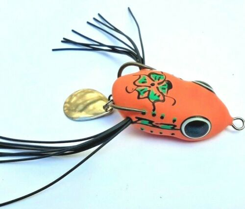 DEADLY LURES SPINTAIL SOFT FROG Weedless Scum Frog Surface Lure BASS  MURRAY COD