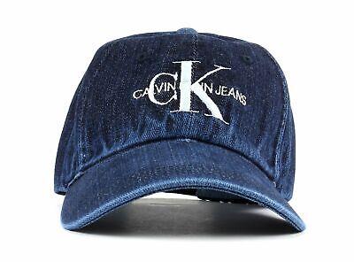 Calvin Klein J Monogram Denim Cap Cap Accessorio Denim Blu Nuovo-mostra Il Titolo Originale