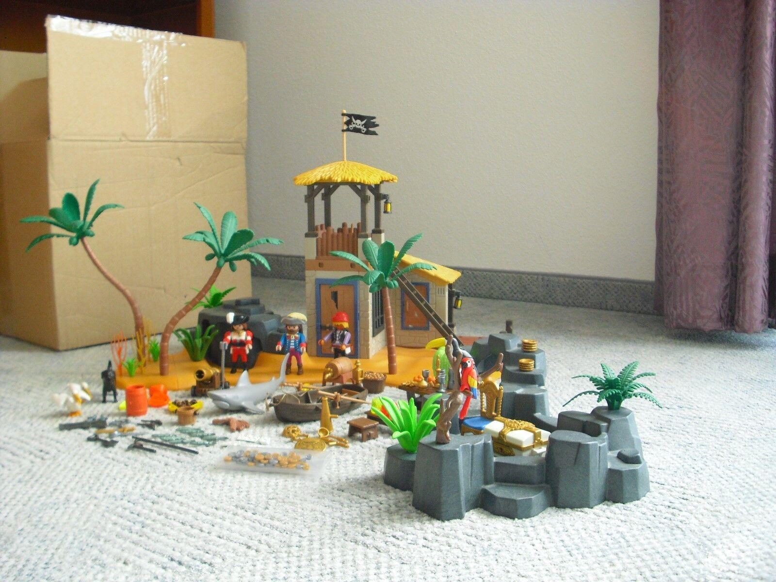 Playmobil Piraten - 3938 - Piratenlagune XXL mit Stegerweiterung Insel - wie NEU