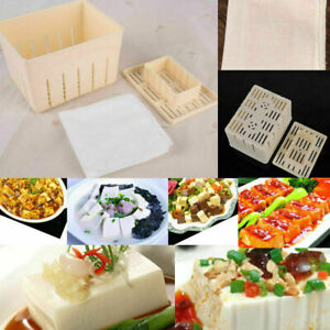 Tofu-Maker-Presse-Mold-Kit-Kaese-Tuch-DIY-Soja-Pressformen-Kuechenwerkzeug-U2F3