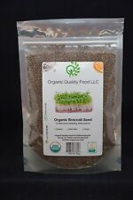 Organic Broccoli Seed, for Sprouting or Microgreens.
