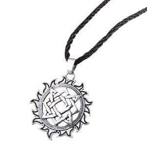 Collier-Pendentif-Style-Viking-Soleil-et-Pentagramme