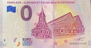 BILLET-0-EURO-HONFLEUR-CLOCHER-ET-EGLISE-STE-CATHERINE-FRANCE-2019-NUMERO-2400