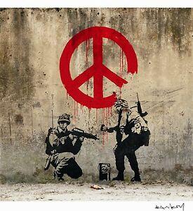 Banksy-Peace-Ed-300-uds-Firma-impresa-Num-a-lapiz-Certif-Edicion