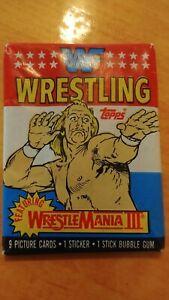 1987 Topps WWF Wrestling Cards Unopened WrestleMania 3