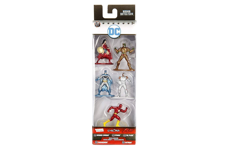 New Nano DC MetalFigs DC Nano Comic Set 1 Wonder Woman Cyborg The Flash Batman Parademon f13c85