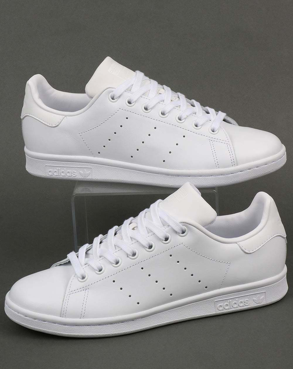 ADIDAS Originals-Adidas Stan Smith Bianca Scarpe Da Ginnastica in Pelle Bianca Smith Triplo-Classic d28ef8