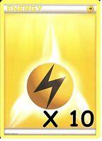 POKEMON: 10 ELECTRIC / LIGHTNING ENERGY CARDS - NEW - UNUSED