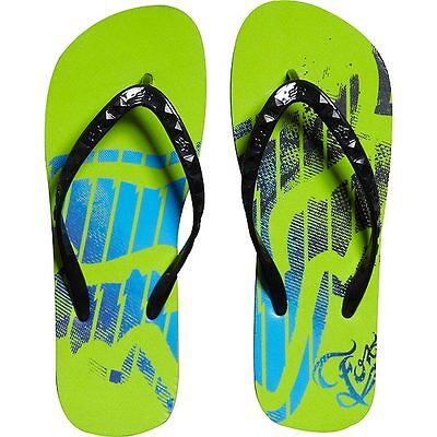 FOX RACING GIRLS RUNAWAY FLIP FLOPS VIVID GREEN beach shoes sandals womens NEW
