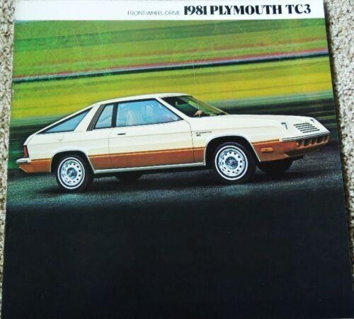 1981 Plymouth TC3 Premium Sport Turismo Large Dealer Sales Brochure