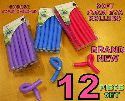Hair Curlers Rollers Soft Foam EVA Hold Curling Styling Hairdressing Salon Grip
