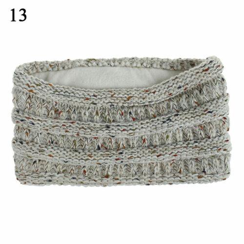 Details about  /Winter Women Ladies Warmer Ear Knitted Headband Crochet Plus Velvet Hairband