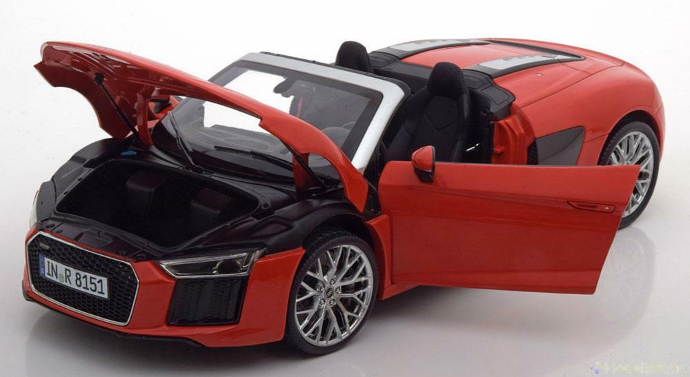 AUDI R8 SPYDER V10 2016 DYNAMITE rouge I-SCALE 501.16.185.52 1 18 ROUGE rouge ISCALE
