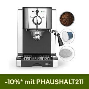 Beem Espressomaschine Siebträger 20 bar Espresso Milchschaumdüse