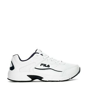 ebe0d044 Details about Fila Men's Memory Sportland Running Sneakers White/ Navy US  9.5W $74.99