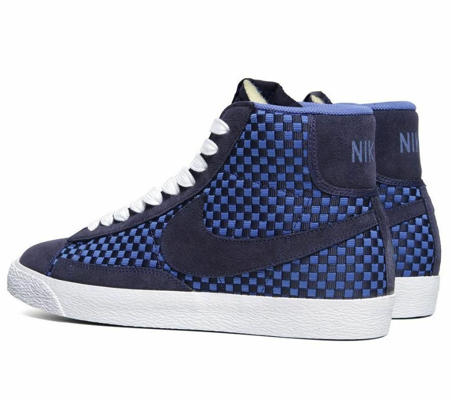 NIKE Blazer Mid Woven Hommes  chaussures 555093 400 Sz9.5-13 Fast shipping M