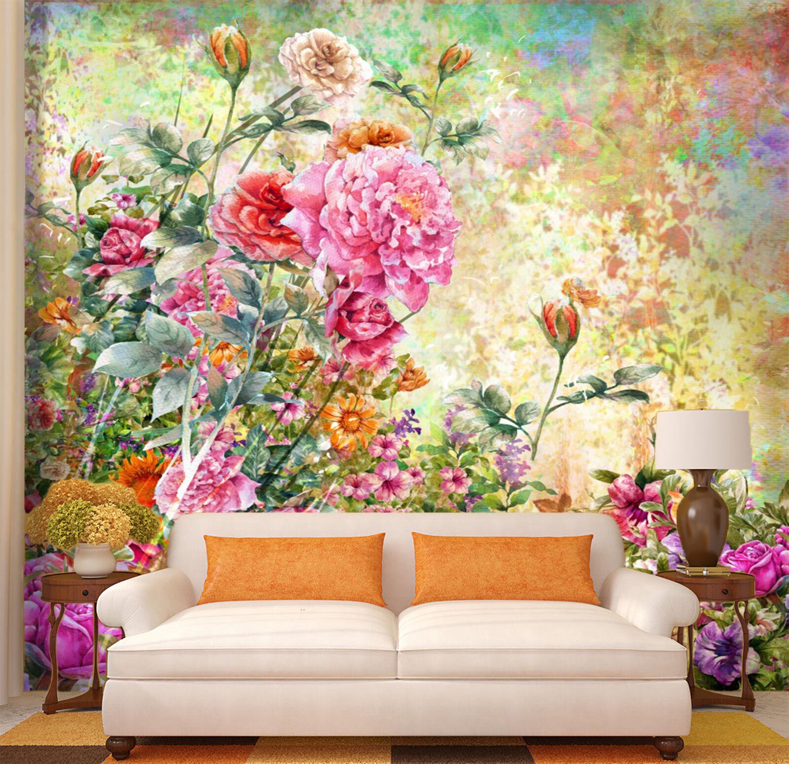 3D Lush Flowers 990 WallPaper Murals Wall Print Decal Wall Deco AJ WALLPAPER