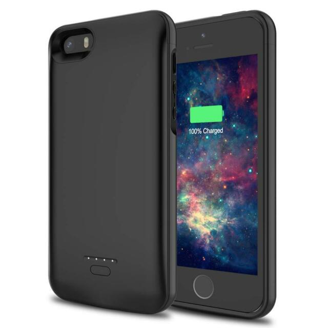 sale retailer a06d7 0a1cc 4000mAh Portable Power Bank Magnet Battery Charger Case Cover For iPhone SE  5 5S