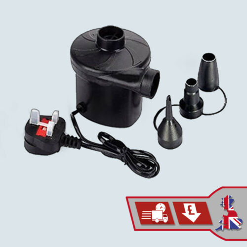 240v Electric Air Pump Inflation and Deflation for Inflatables Camping Bed Pool