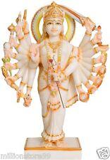 "GOD Mahishasura Mardini Durga 18 Arm 18"" Marble Sculpture Hindu Art Statue 10 KG"