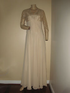 149dfb997d Image is loading Chadwick-s-Vintage-Inspired-Champagne-Beige-Lace-Beaded-