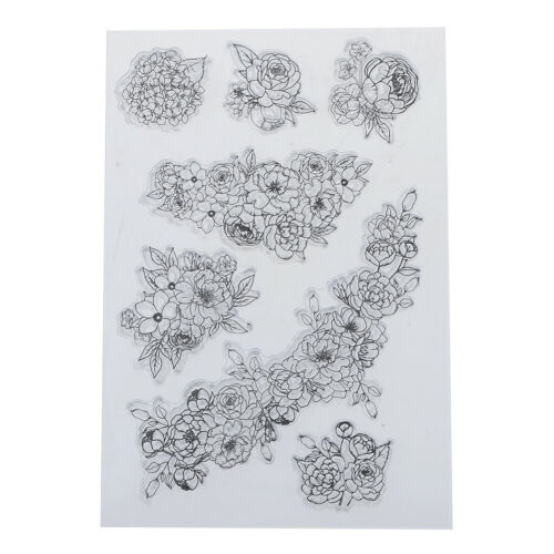 flowers transparent clear silicone stamp for diy scrapbooking photo decorationZJ